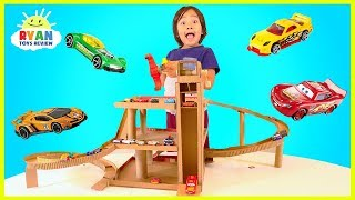 Download How to Make Cardboard Toy Car Garage Playset with lift for Hot Wheels and Disney Cars Video