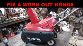 Download Honda snowblower not throwing snow, lets fix it by replacing the paddles and scraper. Video