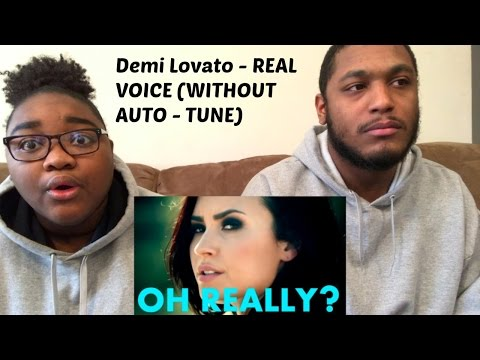 Demi Lovato REAL VOICE WITHOUT AUTO-TUNE-REACTION VIDEO