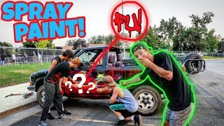 Download LETTING RANDOM PEOPLE SPRAY PAINT MY TRUCK! Video