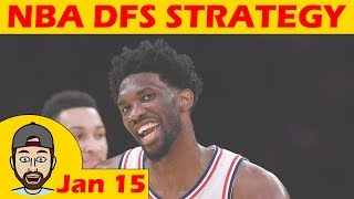 Download NBA DFS Projections & Strategy | Monday 1/15 | FanDuel & DraftKings Video