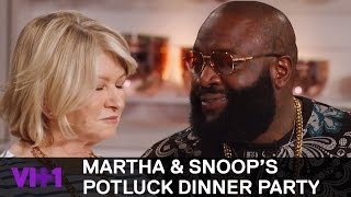 Download Rick Ross Raises Martha Stewart's Temperature | Martha & Snoop's Potluck Dinner Party Video