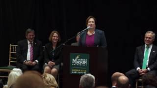 Download Elena Kagan Remarks at Antonin Scalia Law School Dedication Video