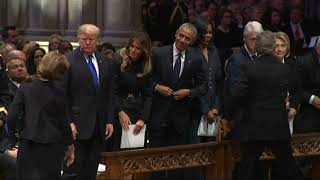 Download Presidents club assembles for Bush funeral Video