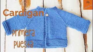 Download Cardigan Raglan Primera Puesta dos agujas - Parte 1 Video