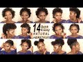 Download 14 SUPER QUICK AND EASY HAIRSTYLES ON SHORT 4C HAIR | BACK TO SCHOOL HAIRSTYLES | SHAKEIRA C Video