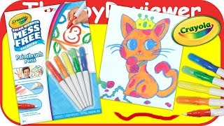 Download Crayola Color Wonder Mess Free Paintbrush Pens Markers Paint Unboxing Toy Review by TheToyReviewer Video