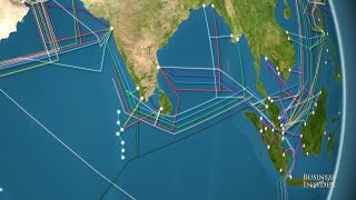 Download Animated map the world's undersea internet cables Video