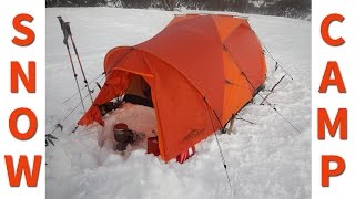 Download Winter Camping in a Snow Tent Video