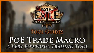 Download Path of Exile Tools: PoE Trade Macro Video
