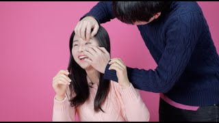 Download Korean girls try to open their eyes Video