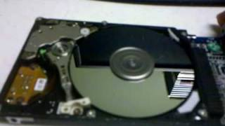 Download Running an exposed laptop hard drive Video