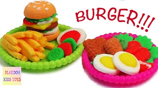 Download Play-Doh Burger Hamburger Playdough Cooking Games Kitchen PlaySet Doh Food Kids Fun Toys Video