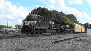 Download NS 276 pulls out of the siding in Stockbridge, Ga. Video