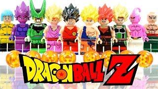 Download LEGO Dragon Ball Z Super Saiyan Goku Vegeta Gohan Bardock Majin Buu Unofficial Minifigures Video