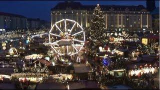 Download Weihnachtsmarkt Deutschland - Striezelmarkt Dresden - Christmas Market Dresden Germany Video