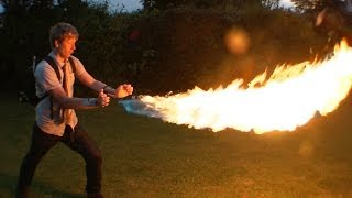 Download DIY X-MEN PYRO shooting 12ft flames from your wrist Video