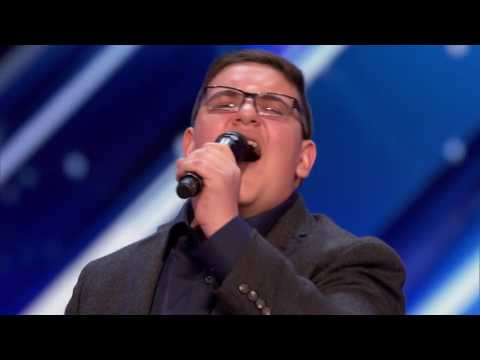 Christian Guardino: Nervous 16-Year-Old Is Awarded the Golden Buzzer - America's Got Talent 2017