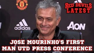 Download Jose Mourinho's First Manchester United Press Conference As Manager In Full Video