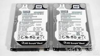 Download #1170 - Western Digital Scorpio Black 500GB 2.5″ Hard Drive (RAID 0 Results) Video Review Video
