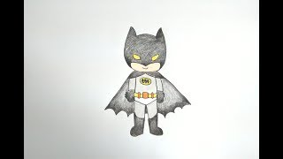 Download วาดรูป แบทแมน How To Draw Cute Batman Cartoon Easy for Kids Step by Step Coloring Pages Video