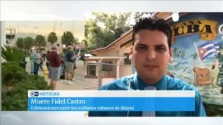 Download Exiliados cubanos de Miami celebran muerte de Fidel Castro Video