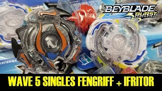 Download NEW WAVE 5 SINGLES! IFRITOR I2 + FENGRIFF F2 QR CODES & REVIEW & BATTLES BEYBLADE BURST EVOLUTION Video
