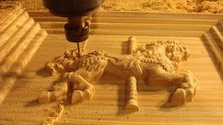 Download 45 CNC router machining a *$6,500* 3D fairground horse Video