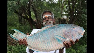 Download Parrot FISH Prepared by my daddy in my village / Village food factory Video