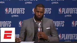 Download LeBron gets testy after game: 'You guys think I'm gonna throw my teammates under the bus?' | ESPN Video