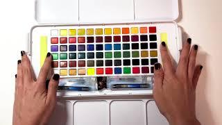 Download Sakura Koi 72 Water Color Studio Set - Open Box, Review, & Swatches! Video