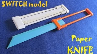 Download How to make a Paper OTF Knife - Toy weapon Video