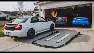 Download Diffuser, Carbon Fiber Trunk, Rear Spats, Lip, And New Side Skirts For The STI! Video