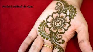 Download quick and easy mehndi henna designs for navrathi special|floral mehndi designs for hands Video