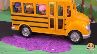 Download Slime School Bus ! LOL Surprise Doll Play Video - Cookie Swirl C Video
