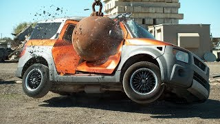 Download 4 Ton Wrecking Ball in Slow Motion - The Slow Mo Guys Video