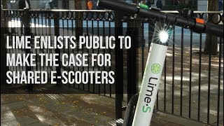 Download Lime Previews E-Scooters in Seattle, Seeking Public Support to End City Ban Video