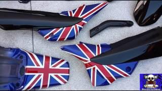 Download NiNHO MOFO PINTURA DE MOTO Honda Bros 150cc pintura bandeira Inglaterra Video