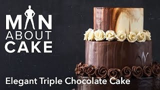 Download (man about) Elegant Triple Chocolate Cake | Man About Cake Video