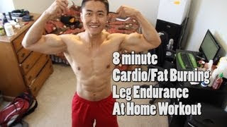 Download 8 Min Fat Burning Home Workout Without Equipment - Burpees, Lunges, Squats Video