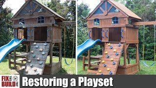 Download How to Restore an Old Wooden Playset | Swing Set Restoration Video