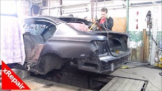 Download BMW 7 Series - Repairing severe rear end collision damage. Video