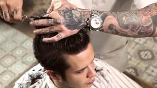 Download HOW TO CUT A CLASSIC POMPADOUR Video