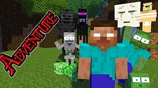 Download Monster School : ADVENTURE TIME - Minecraft Animation Video