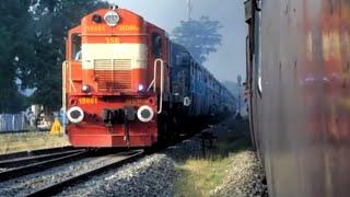 Download Unbelievable Scenes : Indian Railways Racing Trains METRE Gauge vs BROAD Gauge Video