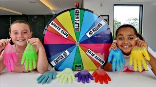 Download MYSTERY WHEEL OF SLIME GLOVES CHALLENGE!! Video