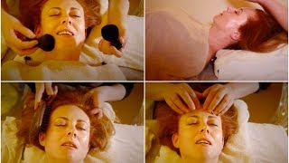 Download A Real ASMR Massage Treatment In London UK ✨ Face Massage, Tapping, Hair Brushing Video