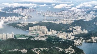 Download Stunning Approach and Landing into Hong Kong Airport Just After Sunrise. Boeing 777 Cathay Pacific Video
