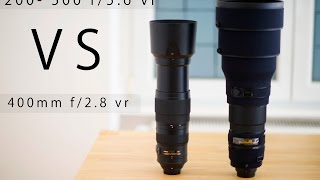 Download Nikon 200-500 5.6 VS Nikon 400mm 2.8 vr Video