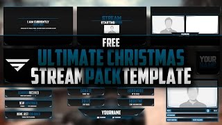 Christmas Themed Animated Livestream Overlay